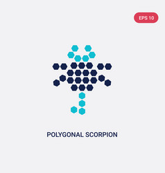 two color polygonal scorpion icon from geometry vector image
