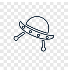 ufo concept linear icon isolated on transparent vector image