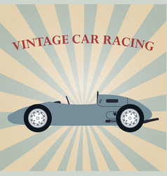 Vintage sport racing car vector