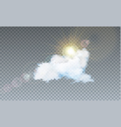 with cloud and sunlight vector image