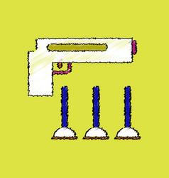 flat shading style icon toy gun vector image