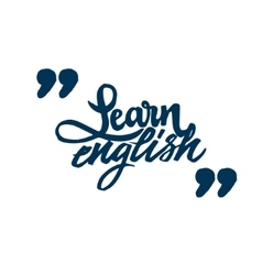 Learn Engish Calligraphic font Unique Custom vector image