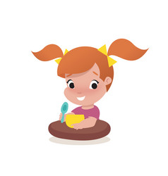 little girl child vector image