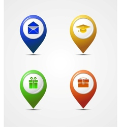 map pointer icons vector image vector image