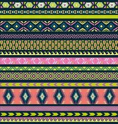 Seamless pattern tribal set vector image