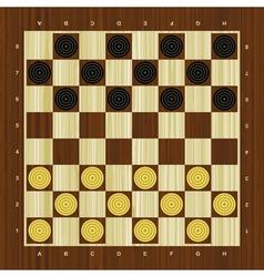 Draughts checker board vector