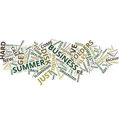 Filler activities for the summer business vector