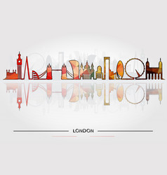 historic buildings of london vector image vector image