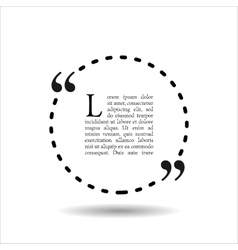 Quote empty text bubble Frame ball is round vector image vector image