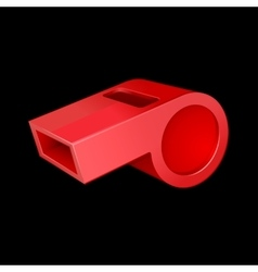 red whistle vector image