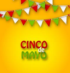 cinco de mayo holiday bunting background vector image vector image