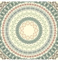 circle vintage pattern vector image vector image
