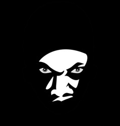man face lurking in the dark vector image vector image