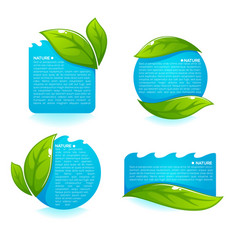 nature tag templates collection of fresh green vector image vector image