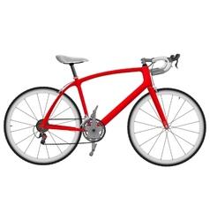Road racing bike vector image