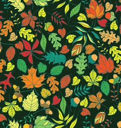 Seamless autumn leaves background vector image vector image