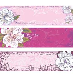 set of backgrounds vector image vector image