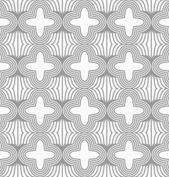 Slim gray four foils with offset on grid vector