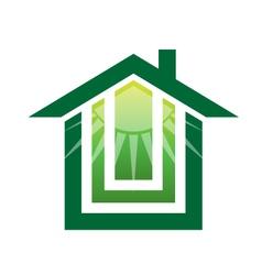 Solar Green house Logo vector image