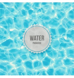 Water paradise vector image vector image