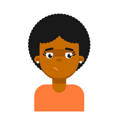 dreamy facial expression of black girl avatar vector image
