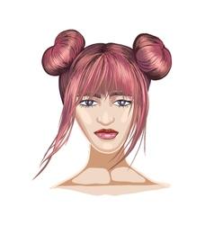 Fashion portrait vector image