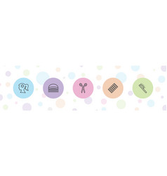 5 hairdresser icons vector