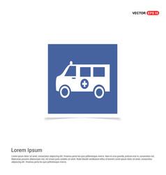 ambulance icon - blue photo frame vector image