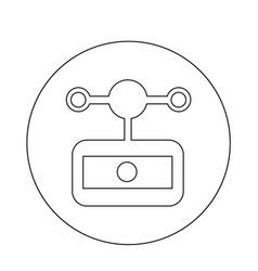 anemometer wind meter icon vector image
