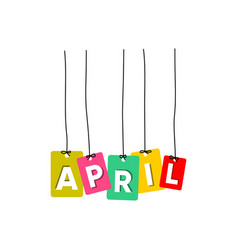 april word vector image