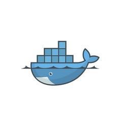 Astana kazakhstan -20 july 2020 docker icon vector