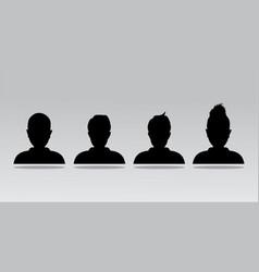 Avatar profile icon head silhouette vector