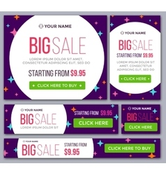 Big half price and one day sale banners vector image