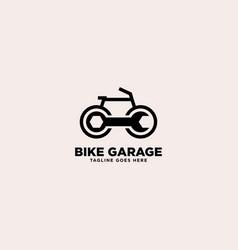 Bike garage simple logo template vector