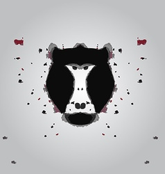 Black aggressive head of baboon monkey in style vector