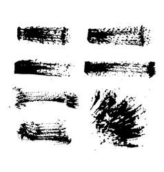 black ink spots set on white background ink vector image