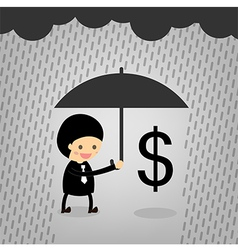 Boss assist Dollars although it rained vector image
