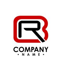 Br letter logo design template b letter logo vector