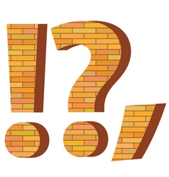 Brick question mark vector