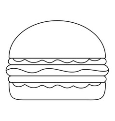 Burger icon outline style vector