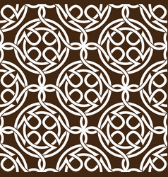 celtic knot abstract seamless pattern ornament vector image