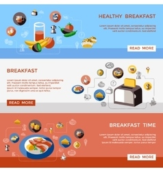 Cereal Banner Set vector image