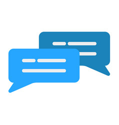 Chat icon in flat style for any projects vector