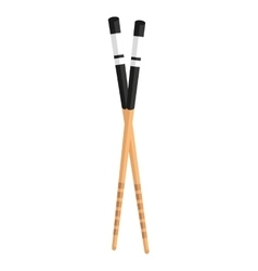chopsticks isolated icon design vector image