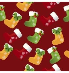 Christmas sock or boot vector