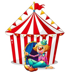 Circus Clown Tent vector image