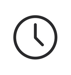 clock icon in modern style for web site and vector image