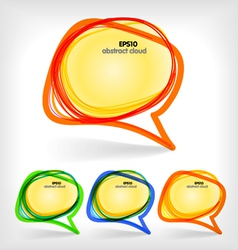Collection of color abstract talking bubbles vector image