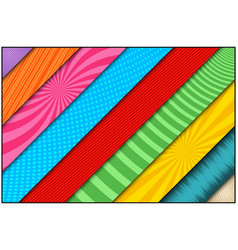 Comic bright banners set vector