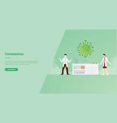 Corona virus campaign concept for website vector